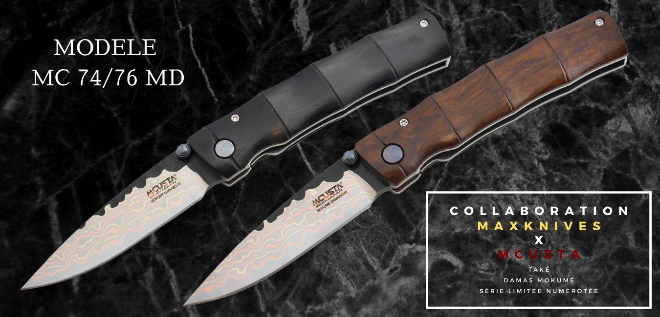 couteau collaboration maxknives mcusta mc74 - 76d