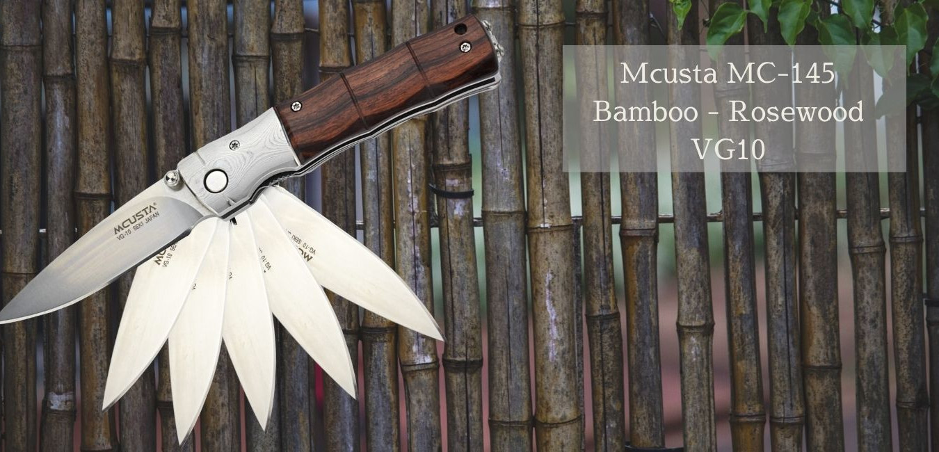 Couteau Mcusta 145 bamboo rosewood vg10