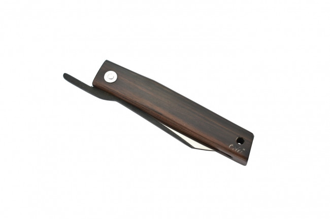 Ohta OFF FK7 - Lame acier D2, manche en bois d'ébène