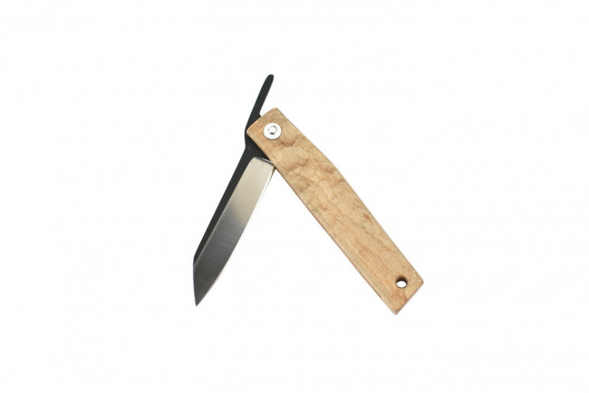 Ohta OFF FK7 - Lame acier D2, manche en bois d'érable
