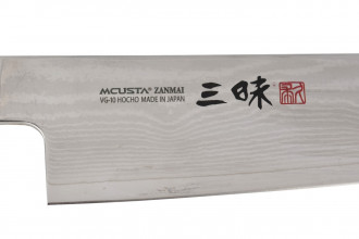 HZ3 3004D Zanmai Hybrid Damas 180mm Gyuto
