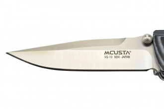 Mcusta MC-10V  - Lame VG10 - Manche Micarta bleu