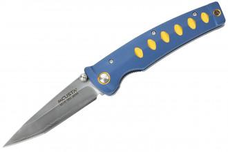 Mcusta MC-42C Katana - Aluminium bleu jaune VG10 Clad
