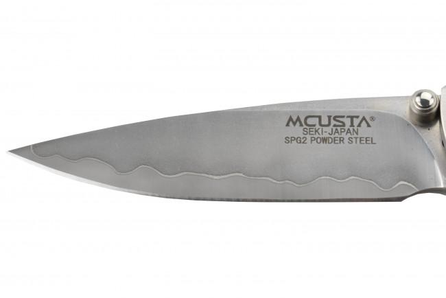Mcusta MC-143G Couteau pliant lame SPG2 manche Iron Wood