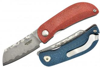 Mcusta MC-213D Damas Micarta rouge et bleu